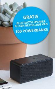 Powerbank met bluetooth speaker