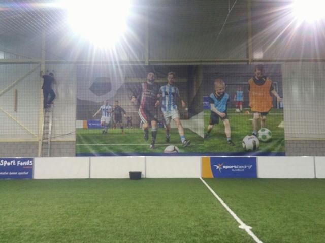 Spandoek Voetbalveld