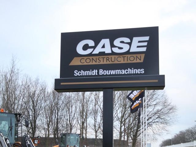 Verlichte zuil Schmidt bouwmachines